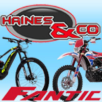 Click for Haines & Co. Fantic motorcycles, Fantic e-bike, Fantic parts and accessories, Used motorcycles, CCM spares, Gas Gas spares.